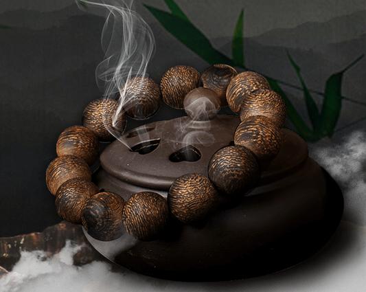 vòng tay gỗ trầm vân phong thủy